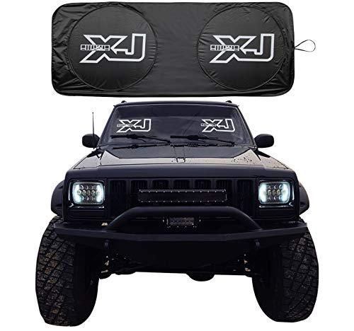 RoRex Jeep Cherokee XJ Zubehör, Windschutzscheibe, Banner, Sonnenschutz, passend für jedes Jahr XJ 1984-2001, passgenau. (Zubehör Cherokee Jeep)