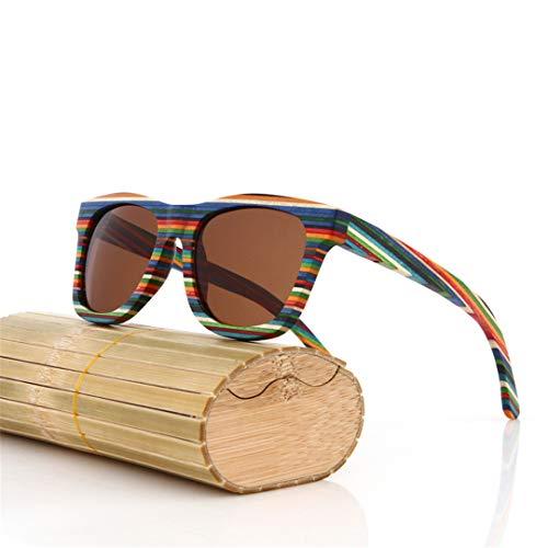 DAIYSNAFDN Original Holz Bambus Sonnenbrille Männer Frauen Gespiegelt Uv400 Sonnenbrille Echtholz Shades Brille Same Pictures 1