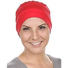 Ducomi Copricapo Chemioterapia Unisex in Misto Cotone Elasticizzato e  Traspirante - Berretto Cuffia Notte per Perdita 45d99f476e37