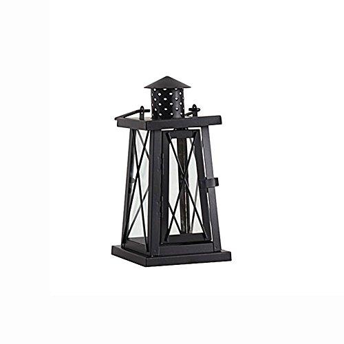 Unbekannt Yixin Kerzenhalter/Kerzenabdeckung Leuchtturm Form Eisen Material Windschutzscheibe Lampenschirm Schwarz 2 Größe Optional (größe : 11 * 21.5cm) (Flamme Windschutzscheibe)