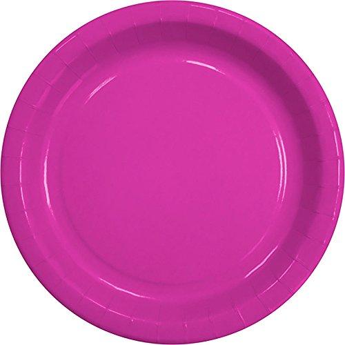 30 x Partyteller Uni Pink Pappteller 23 cm Party Einweg-Teller
