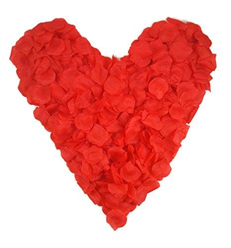 500 rote Rosenblätter, rot - Hochzeitsdeko, Valentinstag, Heiratsantrag, Romantisch,...