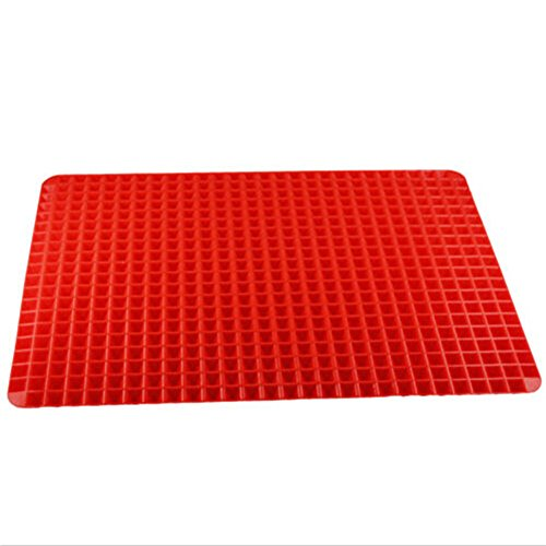 Wingogo Silikon-Backmatte Rote Pyramide-Pfanne Hitzebeständige Antihaft-Gesunde Kochmatte