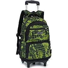 a6e224abd Mochila trolley para niños maleta bolsa Camo impermeable Rolling Trolley  Mochila escolar Mochila con ruedas Camuflaje