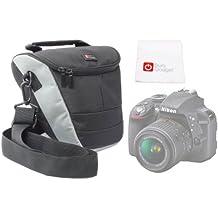 DURAGADGET Funda Protectora Con Bandolera Ajustable Para Cámara Nikon D3300 Con Bolsillo De Rejilla Interno + Gamuza Limpiadora De Regalo