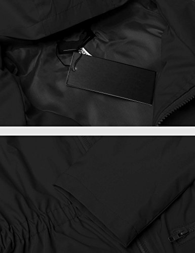 Zearo cape de pluie Manteaux Impermeable Ponchos capes de pluie Raincoat Coupe Vent/Pluie Noir