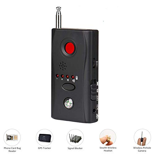 RSGK Anti-Spion-Signal-Detektor, Mini-Wireless-Detektor versteckte Kamera Lochlaser-Objektiv GSM-Ausrüstung Detektor RF-Signal-Detektor (Spion-telefon-gps)
