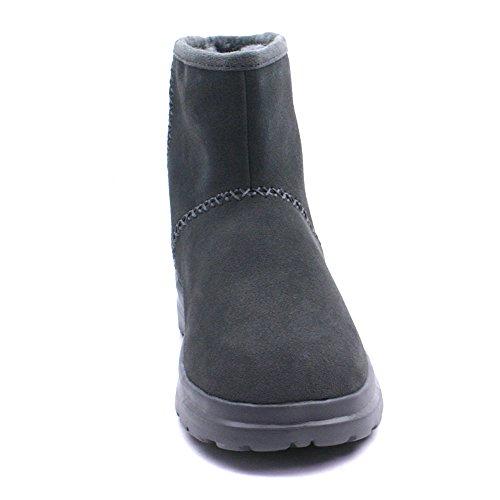 Bottes en daim pour femme Skechers Cherish Coupe Décontractée avec mousse à mémoire de forme Gris - gris
