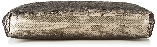 XYXYX - Sequins Bag, Sacchetto Donna Mehrfarbig (Taupe/Carbon)