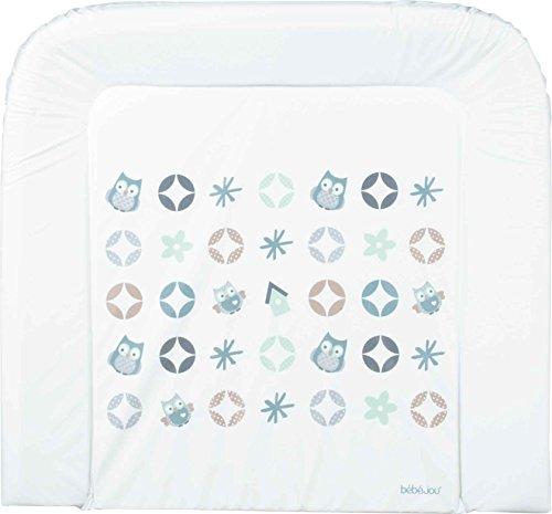 por el cambio de alfombra blanco 80 x 75 x 7 cm Bebe-jou mintgr/ün, grau, blau