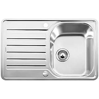 Blanco Lantos 45 S-IF Compact, Küchenspüle, für normalen und flächenbündigen Einbau, reversibel, Edelstahl Bürstfinish, 519059