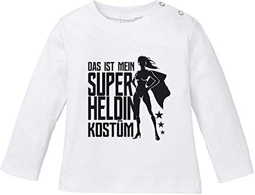 n Superheldin Kostüm Bio Baumwolle Baby T-Shirt Longsleeve ()