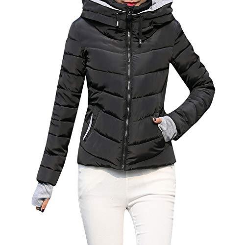 SEWORLD Winterjacke Damen Wintermantel Lange Daunenjacke Jacke Dicke Oberbekleidung Kapuzenmantel Kurze,36 DE/L CN