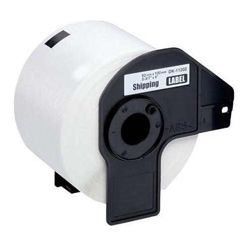 2 x DK11202 (62mm x 100mm) Papier Étiquettes (300 étiquettes par rouleau) compatible pour Brother QL-500, QL-550, QL-560, QL-570, QL-580N, QL-650TD, QL-700, QL-720NW, QL-1050, QL-1060N