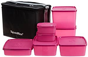 Signoraware Picnic Lunch Set with Bag, Pink