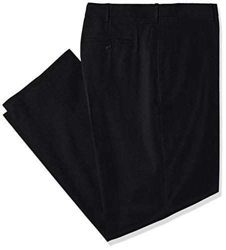 Savane groß und hoch FlatFrontStretchSchraffur Kleid Hose, schwarz, 46Wx30L -