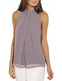 QIYUN.Z Camisetas Para Mujer Blusa Sin Mangas Chaleco De Gasa Tops