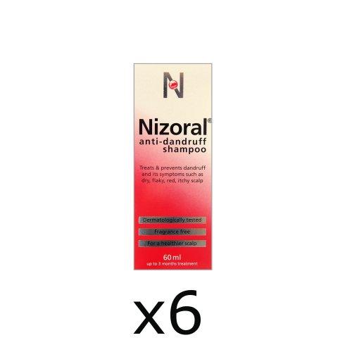 6x Nizoral Ketoconazole Anti-Dandruff Shampoo 60ml