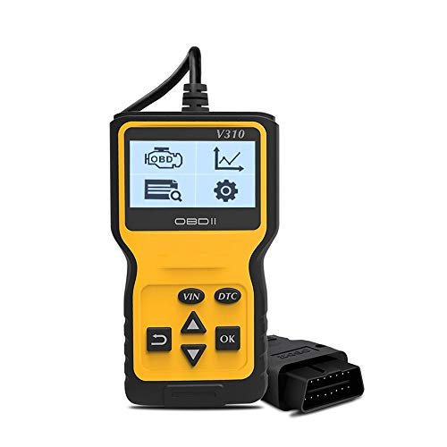 ZZKJBox Autodiagnosescanner-Tool für Handheld-OBD2-OBDII, Fehlercodes lesen und löschen/Schnellabfrage per Mausklick/Große Bildschirmanzeige/Unterstützung für 6 Sprachen/Ergonomisches Design