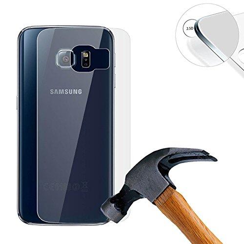 Lusee® (Nur für den Rücken) 2 X Pack Panzerglasfolie Tempered Glass Hartglas Schutzfolie für Samsung Galaxy S6 edge + / S6 edge plus Premium Screen Folie Protector Ultra Hart Displayschutz 0,3mm 9H clear 2.5D Premium Screen Protector