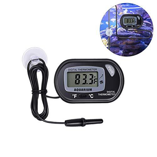 Egosy Aquarium Thermometer Wasserdicht Digitales Aquarien Thermometer Tester für Süßwasser und Meerwasser