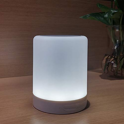 ED-Bluetooth-Lautsprecher, Bass-Membrantechnologie, Nachtlicht, Kabelloser Lautsprecher, Automatischer Mehrfarbenwechsel, LED-Thema, Geeignet zum Schlafen, Lesen, Camping,A ()