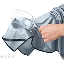 Final Touch Glassware Cleaning Cloths Large Microfibre Ideal for Decanters Wine Glasses GPC5164