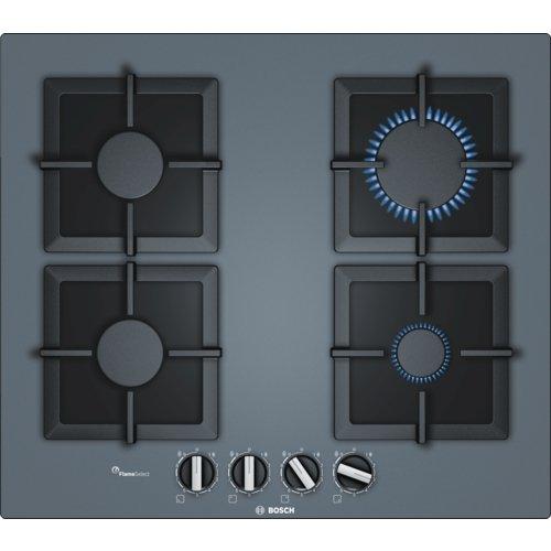 Bosch - Table de cuisson gaz 60cm 4 foyers verre anthracite BOSCH PPP6A9B20