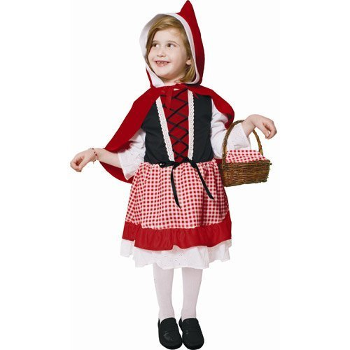 Lil' Red Riding Hood - Toddler 2 by Dress Up America (Riding Up Dress Hood Red)