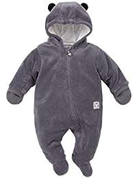 Pinokio - Magic - Baby Overall 100% Polyester mit Innenfutter aus 100% Baumwolle, Teddy, grau - Einteiler für herbstliche Temperaturen, Erstausstattung, Unisex