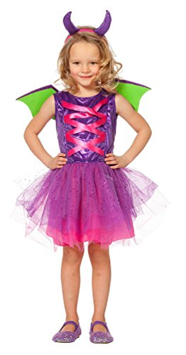 Kostüm Kind Monster - Karneval-Klamotten Drache-n Kostüm Kinder mit Drachen-Flügel Mädchen-Kostüm Monster-Kostüm Größe 104