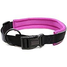 Collar de perro de Nylon, reflectante, de malla, ajustable, para andar, senderismo y entrenar