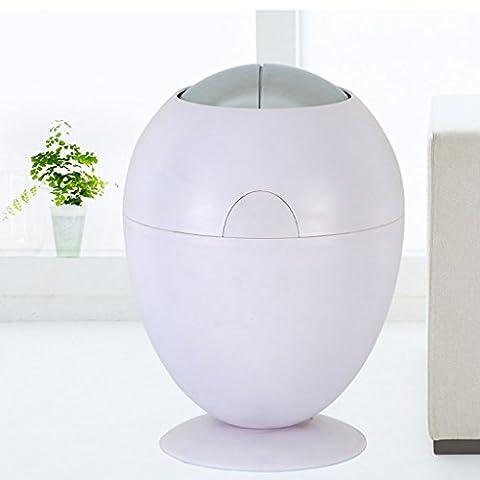 SHOME 6L Automatik Sensor Mülleimer Küche Abfalleimer Müll Trashcan Auto Dustbin mit Eimer 28 * 40CM (weiß)