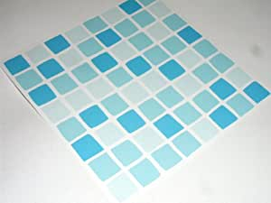 satz 10 des mosaik fliesenaufkleber transfers blau t rkis k che haushalt. Black Bedroom Furniture Sets. Home Design Ideas