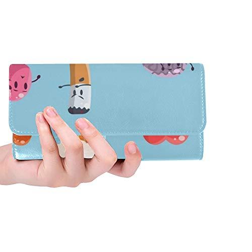 Einzigartige benutzerdefinierte schlechte Gewohnheiten ungesunde menschliche Organe Zeichen Frauen Trifold Brieftasche Lange Geldbörse Kreditkarteninhaber Fall Handtasche - Schlechte Leber