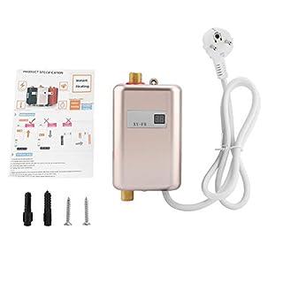 Mini Durchlauferhitzer Warmwasserbereiter, 220V 3400W Mini Elektro Tank  Soforter Durchlauferhitzer Für Badezimmer Küche(Gold