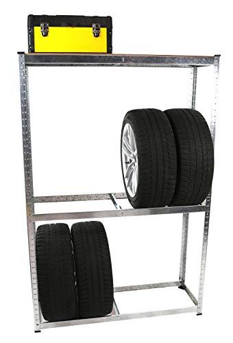 Merschbrock Trade GmbH Reifenregal, 180 x 119,5 x 40 cm, für 8 Reifen