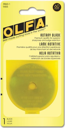 Olfa Lames Rotatives Inoxydable 60mm, Argent