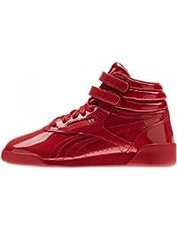 Reebok F/S Hi Patent, Zapatillas de Deporte para Niñas, Rojo (Red 000), 29 EU