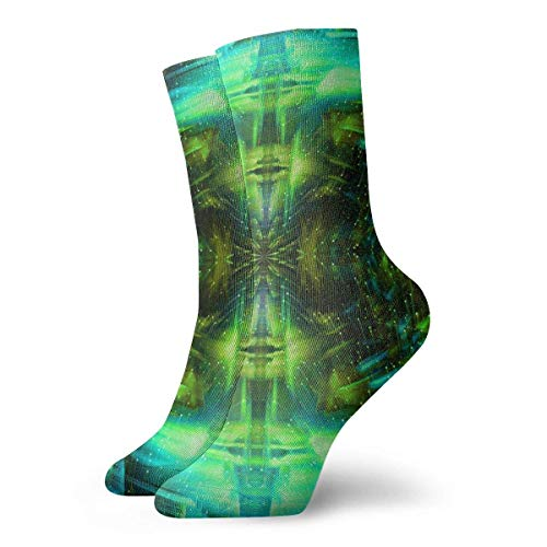 deyhfef Green Design Adult Short Socks Cotton Cozy Socks for Mens Womens Yoga Hiking Cycling Running Soccer Sports