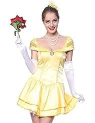 Beauty and the Beast , Die Schoene und das Biest Damen Kostuem Festkleid Partyewar Kommunionkleid karneval Fasching
