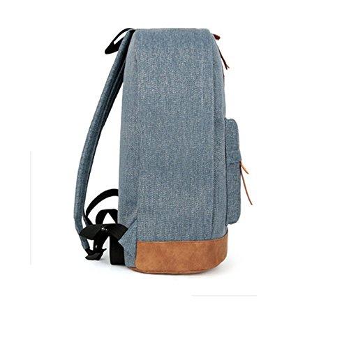 Keshi Neu Faschion Rucksäcke Damen Mädchen Schüler Lässige Canvas Rucksack Vintage Backpack Daypack Schulranzen Schulrucksack Wanderrucksack Schultasche Rucksack für Freizeit Outdoor Sport Leinwand Blau