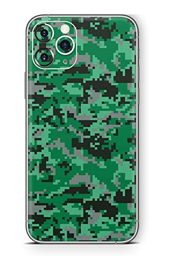 Skins4u Ultra Slim Schutzfolie für iPhone 11 Pro Max Skins Matte Oberfläche Aufkleber Skin Klebefolie Kratzfest Case Cover Folie Digital Green Camo