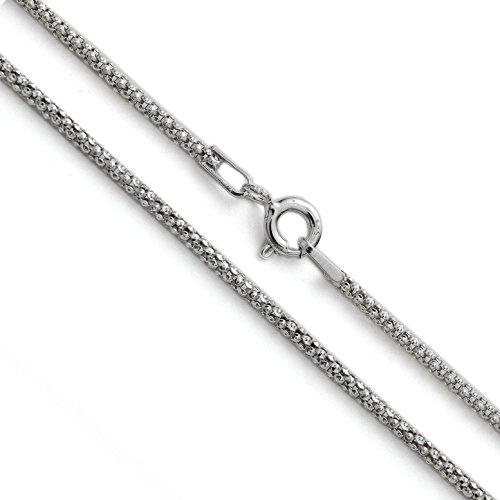 Rhodinierte Silberkette Popcorn Coreana Kette Halskette 925 Silber Sterling 1.6mm #1774 (45)
