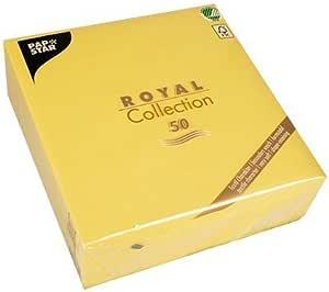 Papstar Royal Collection 1 4 Falz 40 Cm X 40 Cm Gelb 11609 1 X 50er Pack Küche Haushalt