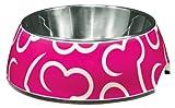Dogit Metallnapf mit Muster pink 300 ml