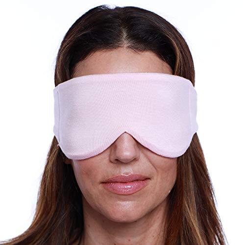 Happyluxe Escapar sueño máscara de ojo grande para dormir, vuelos, viajes rosa Crush
