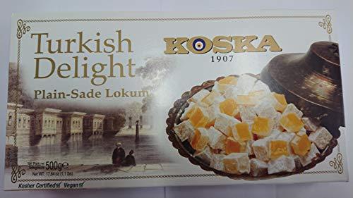 Dorimed - Turkish Delight, Lokum PUR - Sade Lokum, Türkischer Honig, Türkische Süßigkeit, 500gr