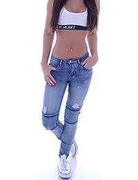 L222 Damen Jeans Hose Hüfthose Damenjeans Hüftjeans Röhrenjeans Röhrenhose Röhre