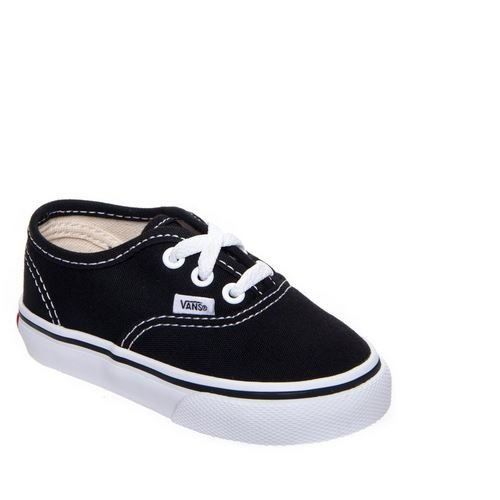 Vans T AUTHENTIC blk Sneaker, Unisex Bambino Nero (Black)